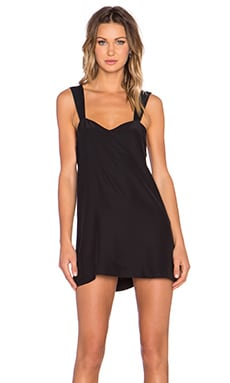 ARE YOU AM I Auren Double Strap Dress in Black