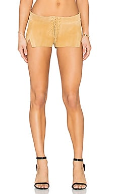 ARE YOU AM I Cuyler Suede Short in Tan