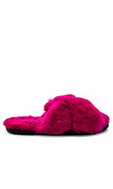 Criss Cross Fur Slipper ARIANA BOHLING $125