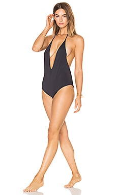 Skylar Reversible One Piece in Black & Nude