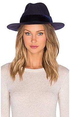 Artesano Clasico Hat in Navy & Navy Velvet