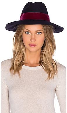 Artesano Clasico Hat in Navy & Burgundy Velvet
