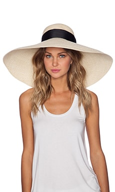 Artesano Playa Hat in Natural & Black