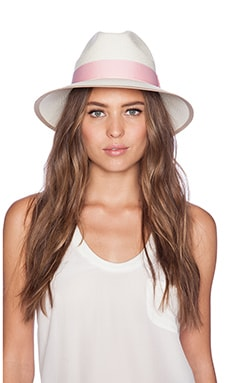 Artesano Clasico Hat in Natural & Baby Pink