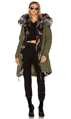 Long Parka With Silver Fox Fur Hood