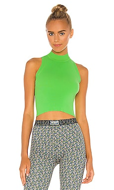 Sleeveless Mock Neck Top Adam Selman Sport $125 NEW
