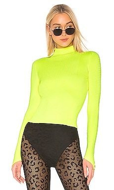 Rib Knit Mock Neck Top Adam Selman Sport $225