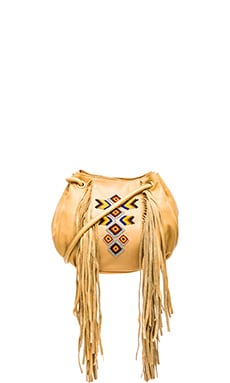 Ash Talullla Drawstring Bag in Nude