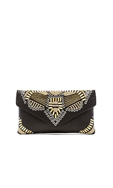 Ash Zuma Clutch in Black