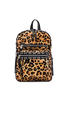 Ash Billy Small Backpack in Leopard & Black