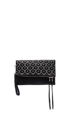 Daisy Clutch in Black