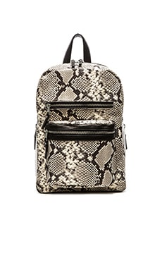 Ash Python Danica Medium Backpack in Natural & Black