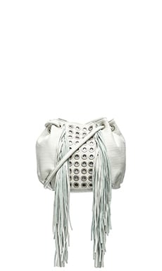 Ash Kimi Drawstring Bag in Off White