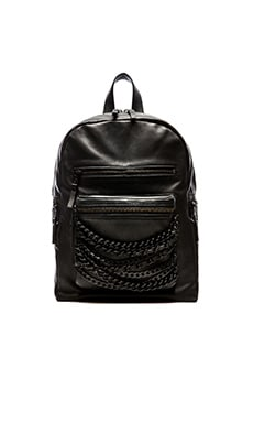 Ash Domino Small Backpack in Black