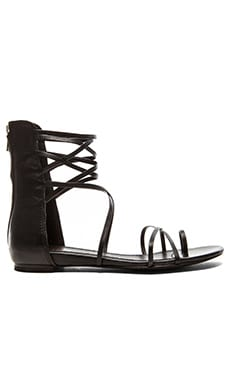 Ash Octopus Sandal in Black