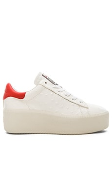 Ash Cult Sneaker in White & Coral