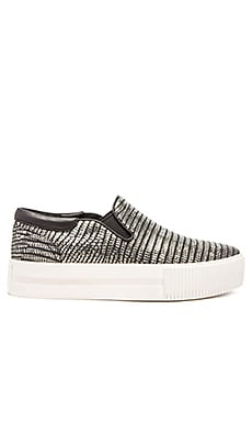 Ash Karma Slip On in Antic Nickel & Black