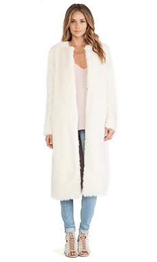 ashley B Long Faux Fur Coat