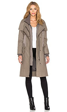 ashley B Cotton Inner Bib Jacket in Khaki