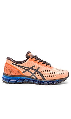 Asics Gel Quantum 360 in Hot Orange Black Blue