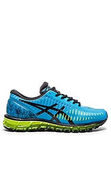 Asics Gel Quantum 360 in Turquoise Black Flash Yellow