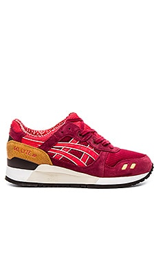 Asics Gel Lyte III in Burgundy Fiery Red
