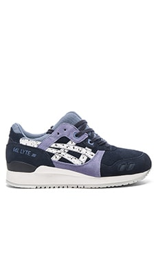 Asics Gel Lyte III in Indian Ink White