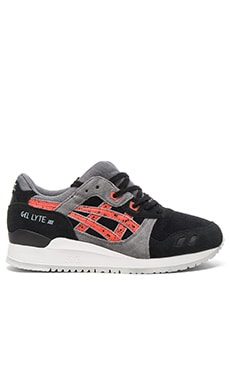 Asics Gel Lyte lll in Black Chili