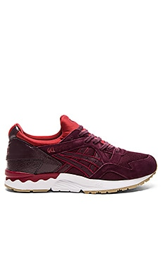 Asics Gel Lyte V in Rioja Red & Rioja Red