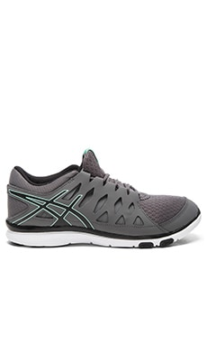 Asics Gel Fit Tempo Sneaker in Storm, Black, & Mint