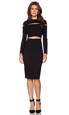 ASILIO The Slasher Dress in Black