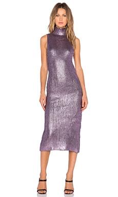 ASILIO Prism Dress in Metallic Lavender