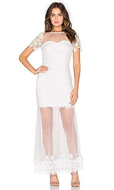 ASILIO The Lady Eve Dress in Cloud White