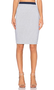 ASILIO Den Marks The Spot Skirt in Navy & White