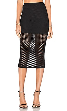 At First Sight Knit Skirt em Preto