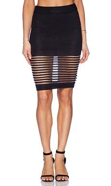 ASILIO Between The Lines Skirt in Black