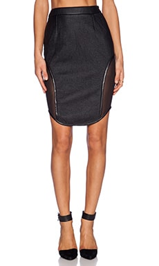 ASILIO Night of the Hunter Skirt in Black