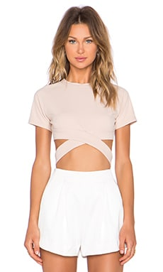 Hotel California Crop Top en Beige