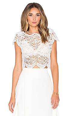 ASILIO Empire State of Mind Crop Top in Cloud White