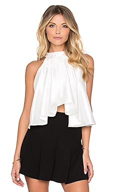 Absent Minded Crop Top en Blanc Brillant