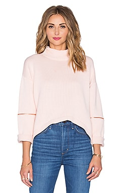 Fierce Warrior Knit Top in Rose Water