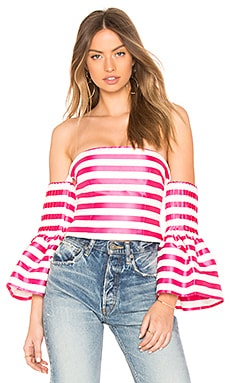 Bronx Stripe Off Shoulder Top ASILIO $55