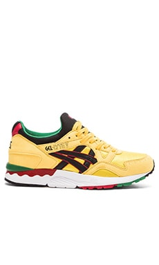 Asics Platinum Gel Lyte V in Black Yellow