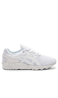 Asics Platinum Gel Kayano Trainer Evo in White & White