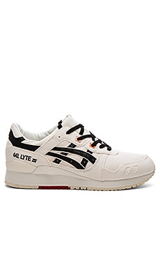 Asics Platinum Gel Lyte III in Slight White & Black