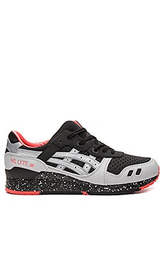 Asics Platinum Gel Lyte III in Black & Light Grey