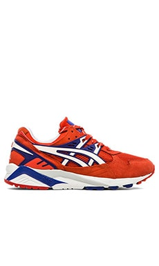 Asics Platinum Gel Kayano in Orange.com White