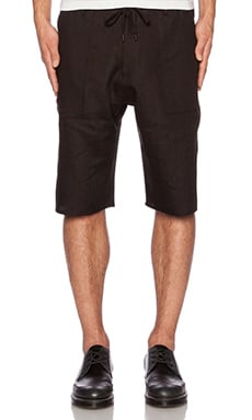 Assembly New York Shorts in Black Linen