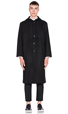 Assembly New York Hood Coat in Black