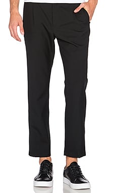 Assembly New York Pleat Tux Pant in Black